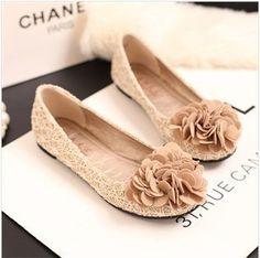 New spring summer 2014 flowers women flats shoes sweet princess lace shoes women casual shoes black beige DZ05
