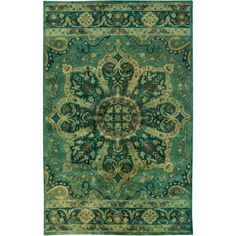 Mykonos Forest and Lime Rectangular: 2 Ft x 3 Ft Rug