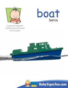 Printable poster with the ASL sign for BOAT @BabySigns www.babysignstoo.com