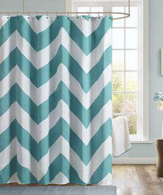 Look what I found on #zulily! Teal Zigzag Shower Curtain #zulilyfinds