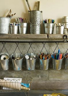 craft room- organize pens markers etc into these hanging containers from IKEA