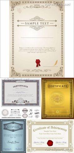 Шаблоны сертификатов в векторе | Vector sertificates: