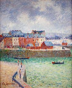 blastedheath: Gustave Loiseau (French, 1865-1935), Dieppe, l'avant-port [Dieppe, the outer harbour], c.1903. Oil on canvas, 55 x 46cm.