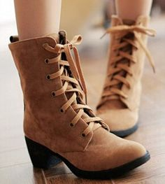 2d2491a9350 Women new fashion autumn winter short martin snow boots 6cm thick high-heeled  lace-up shoes large plus size 40-43
