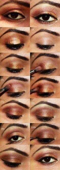 20 Tutoriales de Maquillaje Para ojos MarronesS (3)
