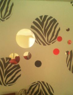Go Wild Zebra Print Polka Dots with mirror wall art