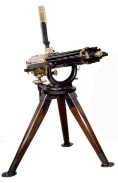 Gatling gun....