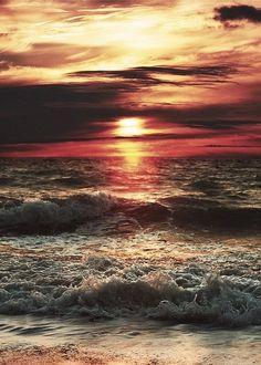 The sun at dawn.