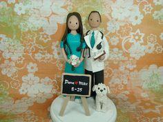 Doctor And Nurse Wedding Cake Topper