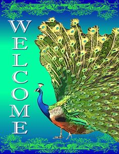 I uploaded new artwork to fineartamerica.com! - 'Welcome Peacock-6612' - http://fineartamerica.com/featured/welcome-peacock-6612-jean-plout.html via @fineartamerica