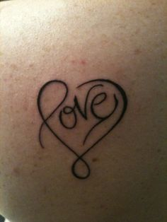 My first tattoo, because my heart is filled with love.