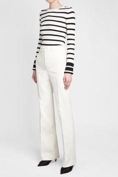 JOSEPH - Kosta Crepe Pants   STYLEBOP White Pants, Khaki Pants, White Style, Joseph, Shopping, Clothes, Women, Fashion, Clothing