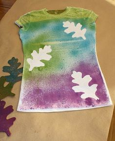 iLoveToCreate Blog: ILoveToCreate Teen Crafts Falling Leaves T-Shirt