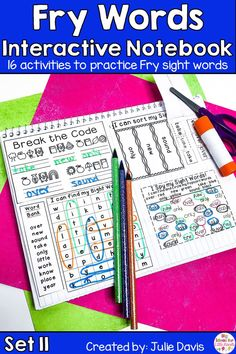 Are you looking for a fun, hands-on way for teaching sight words? Your kids will love learning & using these interactive notebooks to learn their sight words! This is the eleventh set of 10 sets of the Fry Second 100 Sight Word! Each week focuses on 10 different high frequency words. These printable worksheets are perfect for Kindergarten, first Grade, & 2nd Grade. Great for centers, word work activities, homework, & small groups. Great activity for struggling readers!