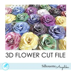 DIY 3D Flower Free Silhouette Studio Cut File DIY rose