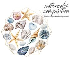 Nautical Clipart, Beach Clipart, Wreath Watercolor, Watercolor Flowers, Seascape Paintings, Watercolor Paintings, Bible Verse Canvas, Free Advertising, Frame Wreath