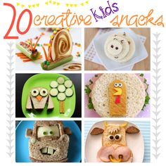 20 creative kids foods/snacks! Making meal time fun for the tots