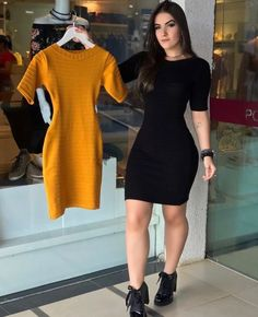 CLIK NA FOTO Swag Outfits For Girls, Black Dress Outfits, Cute Comfy Outfits, Skirt Outfits, Casual Dresses, Fashion Dresses, Western Dresses For Women, Gowns Of Elegance, Professional Outfits