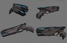Futuristic Combat Handgun