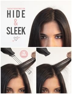 Hide + Sleek! Here's a pro trick to handle those annoying little fly-aways. Click through to get the full story.