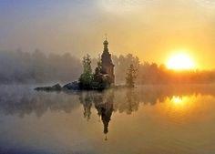 Wschód Słońca, Mgła, Cerkiew