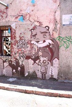 Arty and Chikle in Mexico   #streetart2015 #urbanartists #streetartists #wallmurals #graffitiart