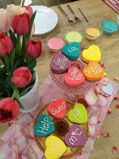 Make your Valentine's Day extra sweet! #JessieJane teaches us how to make heart-shaped mini-cheesecakes in a rainbow of hues! @Lilyshop with Jessie Jane with Jessie Jane  #HomeandFamilyTV