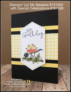 Stampin' Up! My Meadow with Special Celebrations Birthday Card Design, Birthday Cards, Special Birthday, Happy Birthday, 3d Paper Flowers, Stampin Up Catalog, Bee Design, Stampin Up Cards, Happy Friday