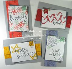 Marelle Taylor Stampin' Up! Demonstrator Sydney Australia: Watercolour Words Stamp-a-Stack