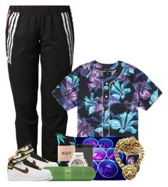 """""""Hangin Out Wit My Squad"""" by xqueen-of-anglesx ❤ liked on Polyvore featuring adidas, PacSun and NIKE"""