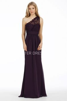 US$119.69-Elegant Sheath One-Shoulder Sleeveless Lace Chiffon Purple Long Bridesmaid Dress. http://www.ucenterdress.com/floor-length-sheath-one-shoulder-sleeveless-lace-chiffon-bridesmaid-dress-pMK_100752.html. This lovely gown made of soft and lovely chiffon fabric will prove to be a wonderful addition to your little girl's special occasion wardrobe. Perfect for graduations, holiday and birthday dresses, wedding party. #bridesmaid