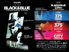 WORLD-FAMOUS DJs ROGER SANCHEZ & VICTOR CALDERONE TO PERFORM AT THE MAIN EVENT!  / The 27th annual edition of the Black & Blue Festival in Montreal will be presented from October 5 to 9 under the LUMINOCITY theme. This year, festival participants will celebrate Montreal's diversity under the effects...