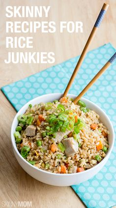 Skinny Recipes for Rice Lovers - Delicious and healthy. Think Food, I Love Food, Food For Thought, Good Food, Yummy Food, Healthy Cooking, Healthy Snacks, Healthy Eating, Cooking Recipes
