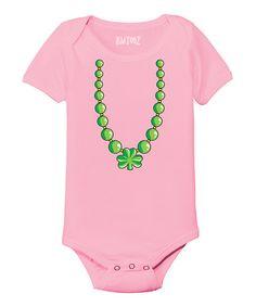 Love this Light Pink Shamrock Necklace Bodysuit - Infant on #zulily! #zulilyfinds