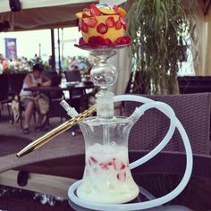 Pineapple glass hookah