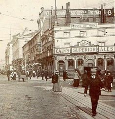 London Road 1910 On the junction with Lime Street Liverpool Town, Liverpool History, Liverpool England, Old Pictures, Old Photos, Vintage Photos, Windsor Hotel, Old London, Vintage London