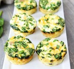 Egg muffins with sausage, spinach, and cheese are a delicious low-cholesterol recipe. #lowercholesteroldiet #cholesterolbreakfast
