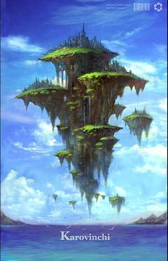 Ideas For Concept Art Environment Floating Island Fantasy City, Fantasy Castle, Fantasy Places, Fantasy World, Fantasy Island, Landscape Concept, Fantasy Landscape, Landscape Art, Desert Landscape
