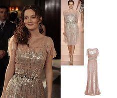 On Blair: Jenny Packham Spring 2011 RTW Sequin Chiffon Dress