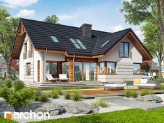 projekt Dom w chmielu widok 1