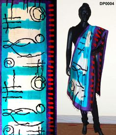 Handpainted Dupatta MRP:Rs. 3,000/-  Free Shipping & COD available  Order Here: http://www.artncraftemporio.com/handpainted-dupatta-3.html Hand Painted Dupatta in sonamukhi Bishnupur Silk Fabric. Each dupatta is treated as canvas and painted. The painting is inspired by works of great painters. It takes 2 weeks to complete one piece of Dupatta