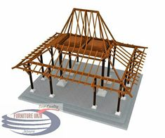 """BBC Boracay says: """" We use hardwood and bamboo to build the construction of the roof and cover it later with Nipa, Ambulong or Cogon Grass."""" (JOGLO The Diversity Of Gazebo Design) Villa Design, Roof Design, House Design, Vernacular Architecture, Architecture Design, Indonesian Decor, Bali House, Tropical Architecture, Bamboo House"""