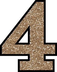 4 Glitter Numbers 0 - 9 Free Printable Numbers