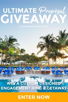 Embark on a Romantic Getaway to South Florida where you can win a custom Diamond Engagement Ring, a stay at the St. Regis Bal Harbour, and a private dinner with an award-winning chef! Massage Packages, Stay The Night, Romantic Getaway, Happily Ever After, Dream Vacations, Round Trip, Miami Beach, Giveaway, Wedding Planning