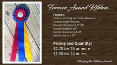 Quality award ribbons are an investment in your next event!  Give your competitors something to talk about when they win :)  #awardribbons #quality #mclaughlinribbonawards