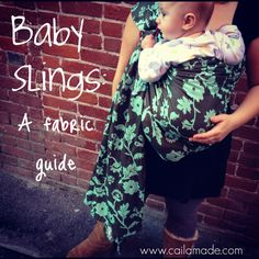 Friday Feature: Baby Sling Materials with fabric guide