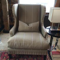 Fleming Chair #interiordesign #decor #stripes #furniture #chair #studded #andrewmartin