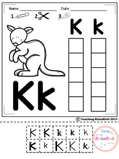 Alphabet Cut and Paste upper and lower case for pre K and kindergarten.