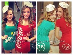 Soda Pop Halloween Costumes for Poppin' Gals... This website is the Pinterest of homemade costumes