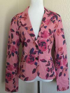 CAbi size 16 pink Dream Day Rose Garden floral blazer jacket style 804 #CAbi #Blazer